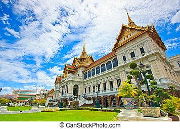 palác, královský, asie, bangkok, důležitý, thajsko