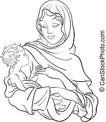 Panenko Marie, vydržte dítě