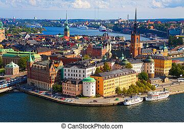 panoráma, stockholm, švédsko