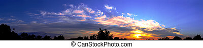 panoráma, východ slunce