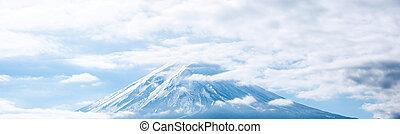 Panorama horské fuji