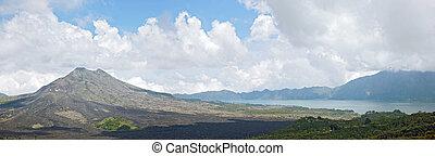 Panorama z vulkánské krajiny