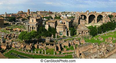 panoramatický, římský záhuba