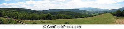 Panoramická horská krajina