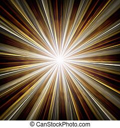 paprsek, hvězda