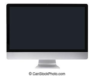 pc computer, hladký, monitor
