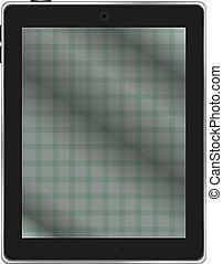 pc, neposkvrněný, temný grafické pozadí, tabulka