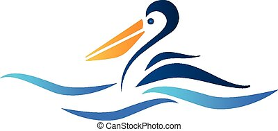 pelikán, ptáček, emblém