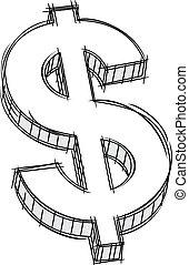 peníze, firma, klikyháky