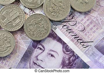 peníze, uk