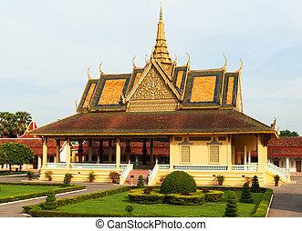 penh, pnom, důležitý, cambodia., palác