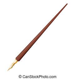 pero, kašna, grafické pozadí, neposkvrněný