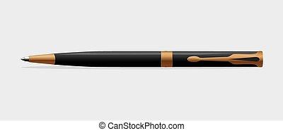 pero, kuličkový, grafické pozadí., neposkvrněný, čerň