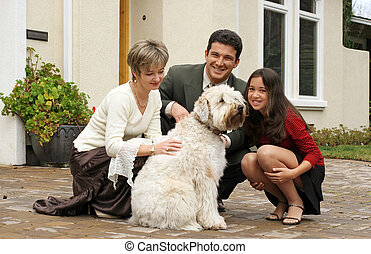 pes, rodina
