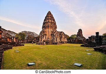 phimai, thai, thajsko, asie, zaujatý, fotografie, překrásný, troska