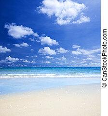 pláž, letní čas