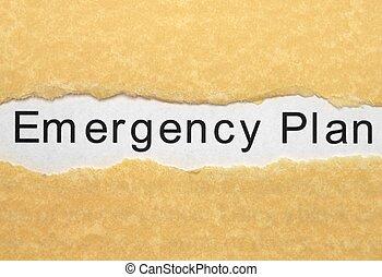 plán, pohotovostní