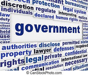 plakát, pojem, vláda