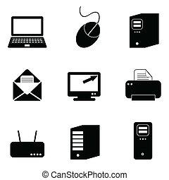 Počítače a technologie ikony