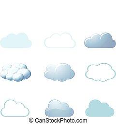 Počasí ikony - mraky