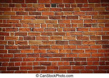 Počasí, zabarvená stará zeď