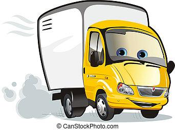 podvozek, karikatura