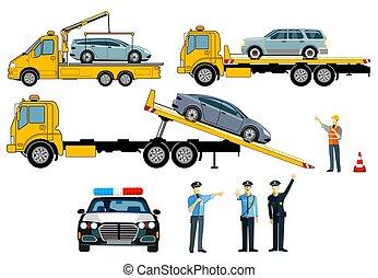 podvozek, vektor, illustration.eps, vlečení, osamocený, -, neposkvrněný, grafické pozadí., vagón, kontrolovat