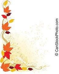 podzim, hraničit