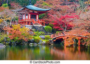 podzim, japonsko, chrám