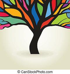 podzim, strom