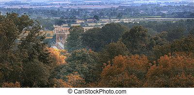 podzim, wolds, církev