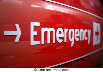 Pohotovost v nemocnici.