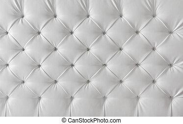 Pohotovostní struktura bílého sofa, vzor