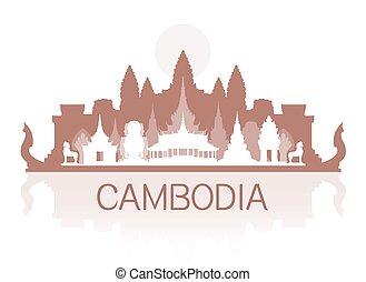 pohybovat se, orientační bod, kambodža