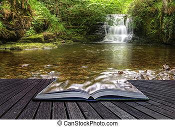 pojem, podoba, plynulý, magický, vodopád, tvořivý, kniha, les, dorůstající, historka, aut