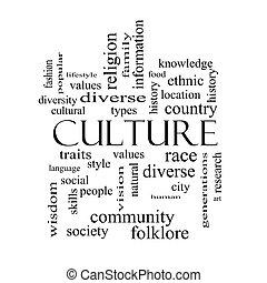 pojem, vzkaz, kultura, čerň, běloba mračno