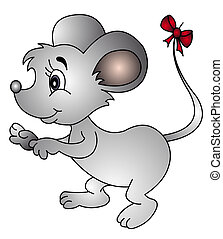 poklona, chvost, myš