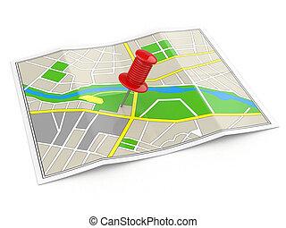 Poloha. Mapa a palec. Pojem Gps.