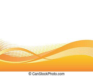 pomeranč, dynamický, grafické pozadí, swoosh