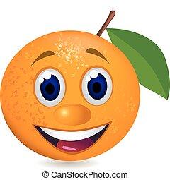 pomeranč, karikatura