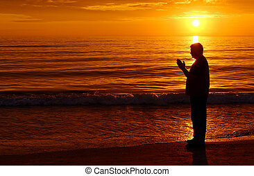 pomeranč, prosit, západ slunce