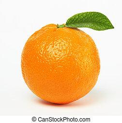 Pomeranč s listem