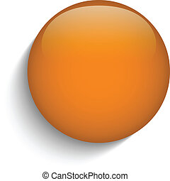Pomerančový knoflík na oranžovém pozadí