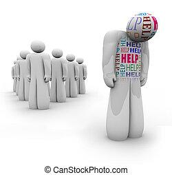 Pomoc - sama osoba je smutná a potřebuje pomoc