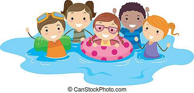 Pool děti