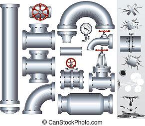 potrubí, průmyslový