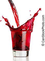 Poučuji červený nápoj