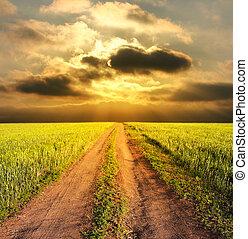 Pouštíme venkovskou krajinu a cestu