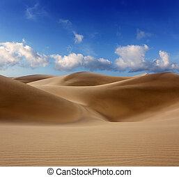 Pouštní dunes v maspalomas grania