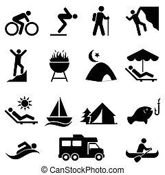 Povolení a rekreační ikony